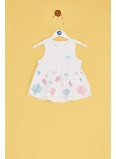 BG Baby Kız Bebek Beyaz Tunik Beyaz